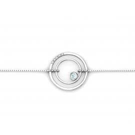 bracelet sunshine en argent, diamants et topazes bleues
