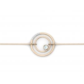 bracelet sunshine vermeil rose, diamants et topazes bleues