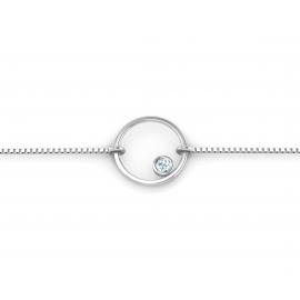 Bracelet sunshine argent et topaze bleue