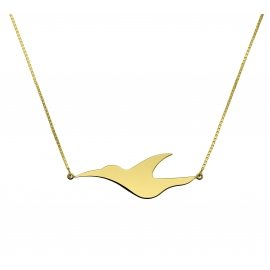 Collier L'envol en argent plaqué or jaune 18 carats de la collection L'envol