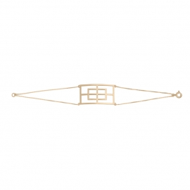 Bracelet rectangle reflet vermeil rose