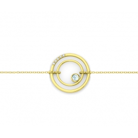 Sunshine bracelet -Yellow gold plated silver & topazes