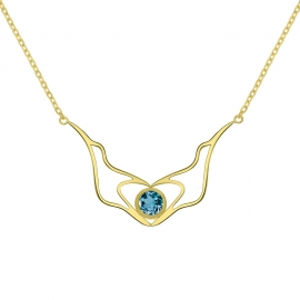 Collier Lovely-coeur - Topaze Blue London