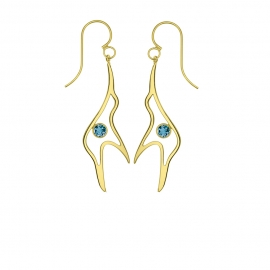 Boucles d'oreilles Lovely - Topaze Blue London