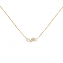 Eternal kô necklace - 18K yellow gold & diamonds