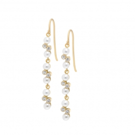 Eternal kô earrings - 18K yellow gold & diamonds