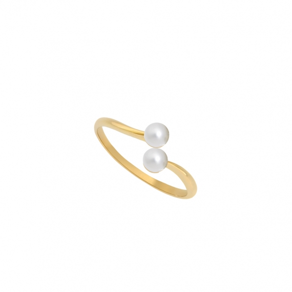 bague eternal kö - or jaune et diamants et perles