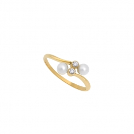 Eternal kô ring - 18K yellow gold & diamonds