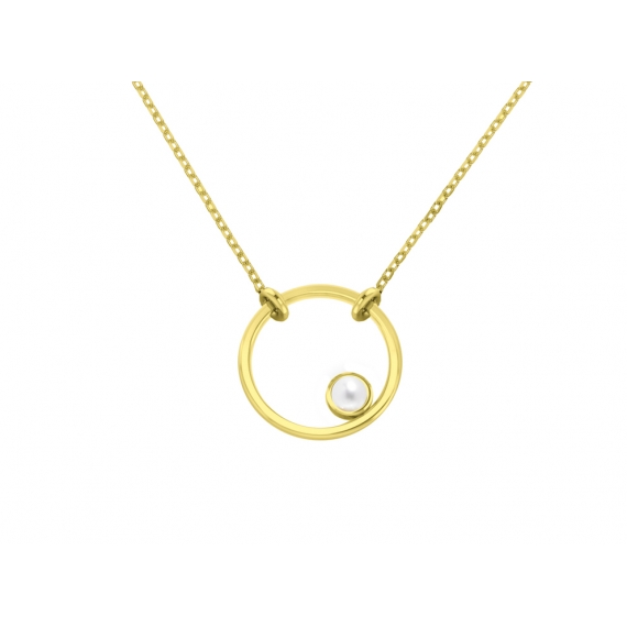 Sunshine necklace mini - Yellow gold plated silver & topazes