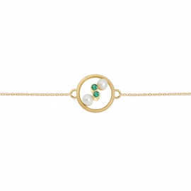 Eternal kô bracelet - 18K yellow gold & emeralds