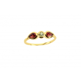 Purelight ring - Peridot & Garnet
