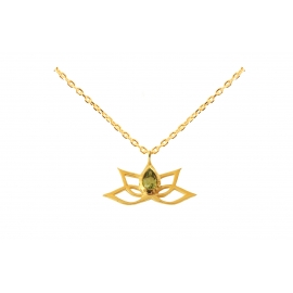 Lotus necklace - Peridot