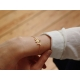 Lotus bracelet - Garnet