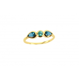 Bague Purelight - Apatite et topaze blue london