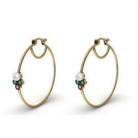 Synchronicity - 18k solid gold Hoops earrings