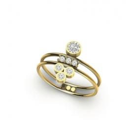 bracelet eternal kö - or jaune et diamants et perles