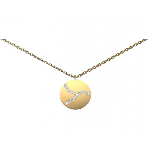 Necklace - Gold & diamonds