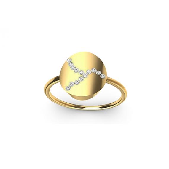 Ring in gold & diamonds