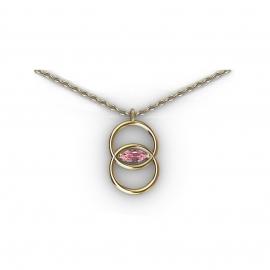 Collier en or et saphir rose