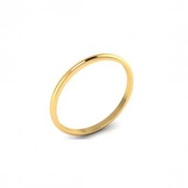 Alliance Dahlia 2 mm - Or 18 carats
