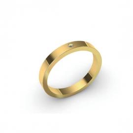 Alliance Dahlia 2 mm - Or 18 carats et diamant