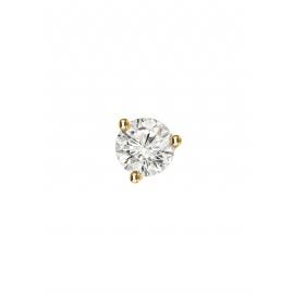 18k gold and diamond mono stud