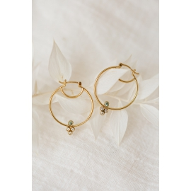 Gold baby hoops earrings