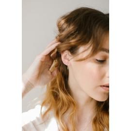 18k gold and diamond mono earring