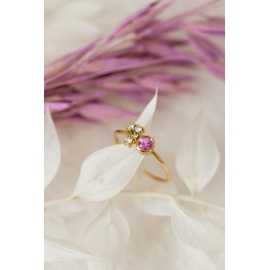 Bague love - Or 18 carats, saphir et diamants