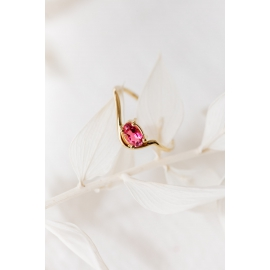 Recycled 18k gold ring and tourmaline