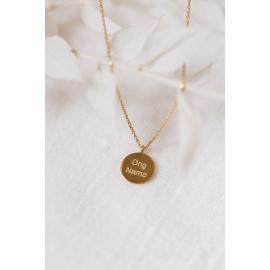 Gold necklace Ong Namo/Sat Nam