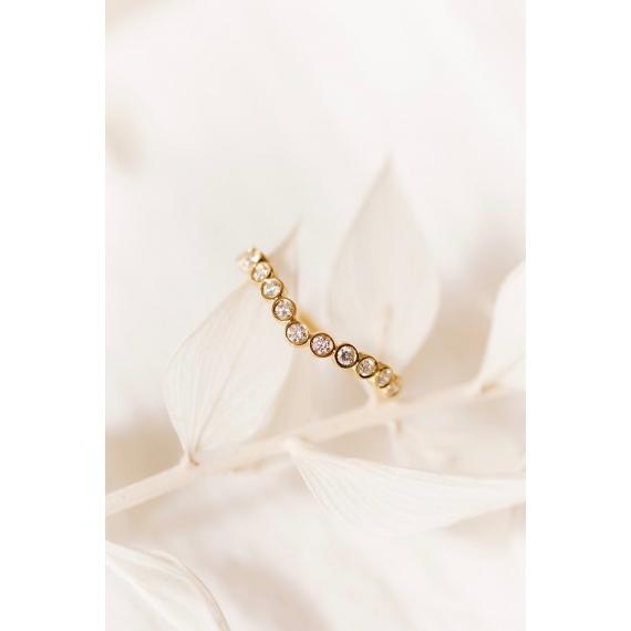 Alliance Jasmin - Or 18k et diamants