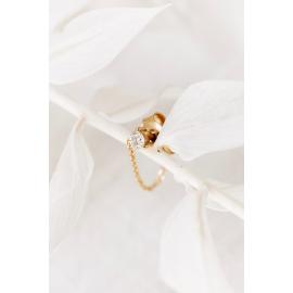 Boucles d'oreilles en or et diamant