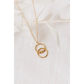 Gold and diamonds necklace