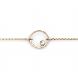 Bracelet sunshine vermeil rose et topaze bleue