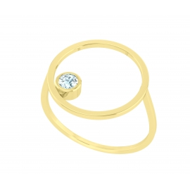 Sunshine ring - Yellow gold plated silver