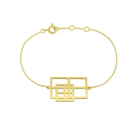 Bracelet rigide reflet argent