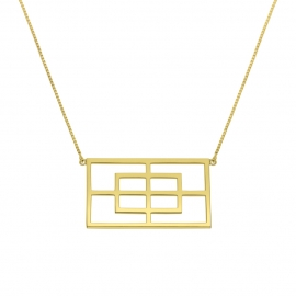 Collier rectangle Reflet
