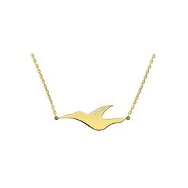 Collier L'envol - or jaune 18 carats et diamants