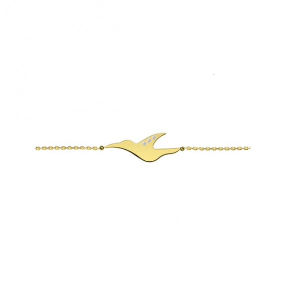 L'envol Necklace - yellow gold Silver plated
