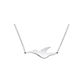 Collier L'envol en or blanc 18 carats de la collection L'envol