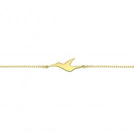 Bracelet L'envol en argent plaqué or jaune 18 carats