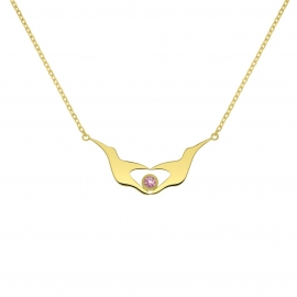 Collier Lovely-coeur - Tourmaline rose