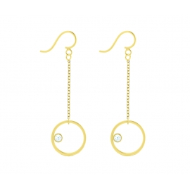 Sunshine earrings - Yellow gold plated silver & topazes