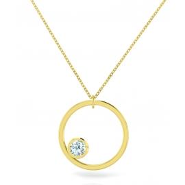 Collier sunshine - argent plaqué or jaune & topazes
