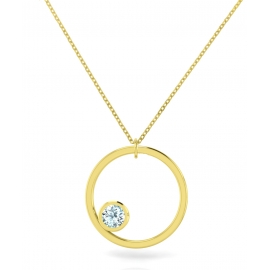 Sunshine necklace - Yellow gold plated silver & topazes