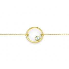 Bracelet sunshine - vermeil jaune & topaze