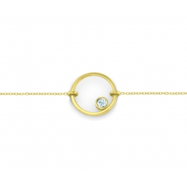 Sunshine bracelet - Yellow gold plated silver & topaze