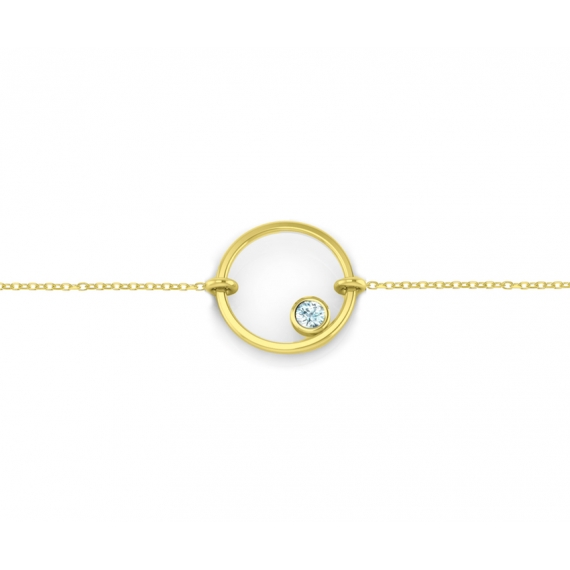 Bracelet sunshine vermeil jaune et topaze bleue