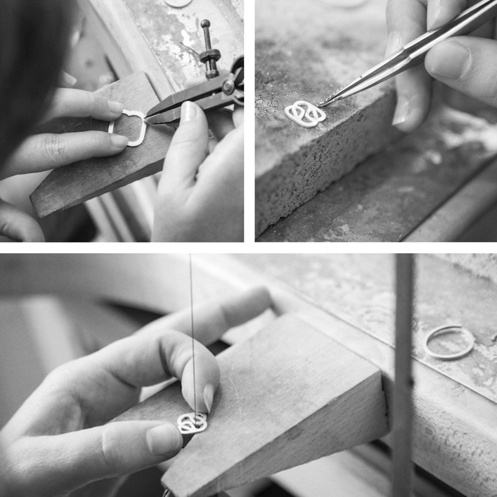 Collier shunshine Argent massif 925 plaqué or rose 18 carats - Enora Antoine